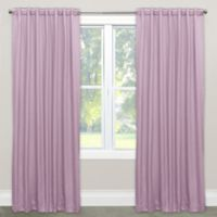 Skyline Solid Room Darkening 63-Inch Rod Pocket/Back Tab Window Curtain Panel in Lilac