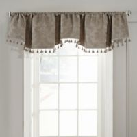 Beautyrest® Germaine Room Darkening Rod Pocket/Back Tab Window Valance in Taupe