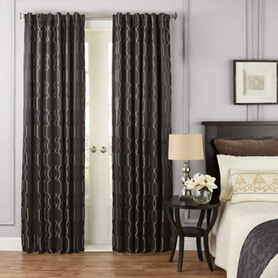 Beautyrest® Yvon 95 Inch Rod Pocket/Back Tab Room Darkening Window Curtain  Panel