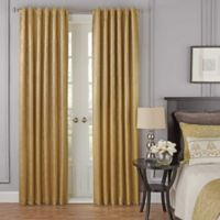 Beautyrest® Yvon 63-Inch Rod Pocket/Back Tab Room Darkening Window Curtain Panel in Gold