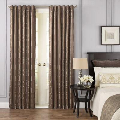 BeautyrestR Yvon 108 Inch Rod Pocket Room Darkening Window Curtain Panel In Dark Mushroom