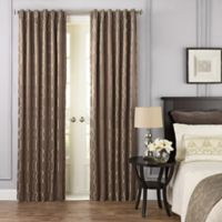 Beautyrest® Yvon 108-Inch Rod Pocket Room Darkening Window Curtain Panel in Dark Mushroom