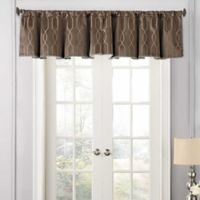 Beautyrest® Yvon Rod Pocket Room Darkening Window Valance in Dark Mushroom