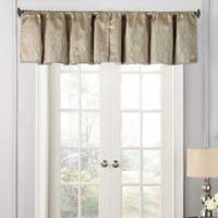 Beautyrest® Yvon Rod Pocket Room Darkening Window Valance in Champagne