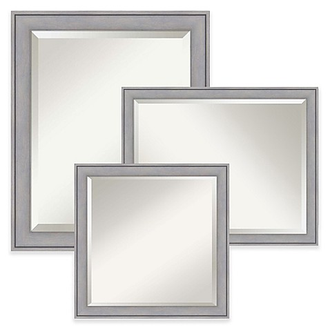 image of Amanti Art Wall Mirror in Grey Wash