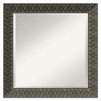 Intaglio 24-Inch x 24-Inch Wall Mirror in Antique Black