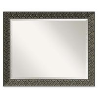Intaglio 32-Inch x 26-Inch Wall Mirror in Antique Black
