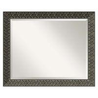 Intaglio 32-Inch x 26-Inch Wall Mirror in Antique Black
