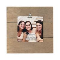 Lawrence Frames Weathered 9-Inch Square Picture Frame with Clip in Natural