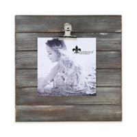 Lawrence Frames Weathered 9-Inch Square Picture Frame with Clip in Grey