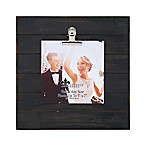 Lawrence Frames Weathered 9-Inch Square Picture Frame with Clip in Black