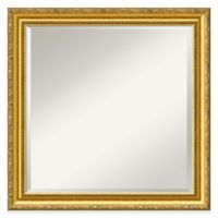 Colonial Embossed 24-Inch Square Wall Mirror in Gold