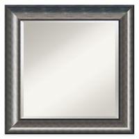 Amanti Quicksilver 26-Inch Square Wall Mirror in Silver
