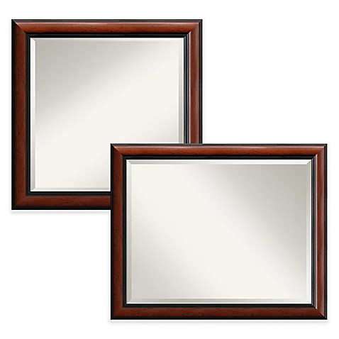 mahogany bathroom mirror regency wall mirror in mahogany bed bath amp beyond 13569