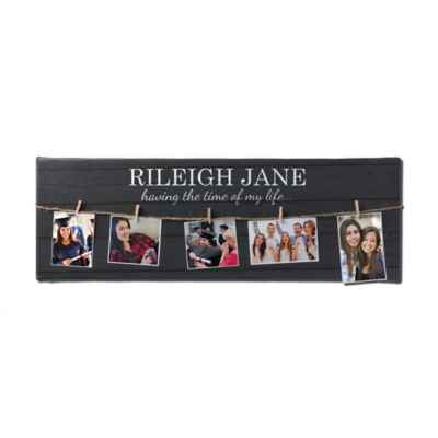 Graduation 9-Inch x 27-Inch Collage Canvas with Photo Clips
