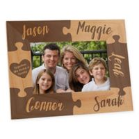 Together we Make a Family Engraved 4-Inch x 6-Inch Picture Frame