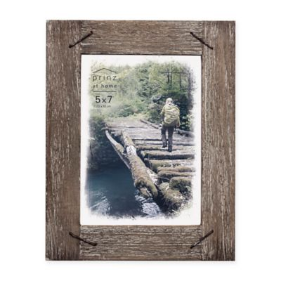 prinz 5 inch x 7 inch barnswood wood frame with nail accents - Natural Wood Frames