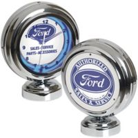 Ford Tabletop Neon Clock in Blue/White