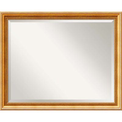 Bathroom Mirror Gold buy gold mirrors from bed bath & beyond