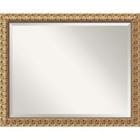 Amanti Art Florentine 26-Inch x 32-Inch Rectangular Wall Mirror in Gold