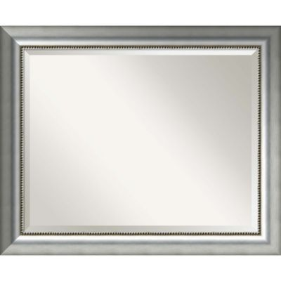 Vegas 33 Inch X 27 Bathroom Mirror In Burnished Silver