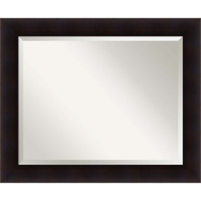 Amanti Art Portico 34 Inch X 28 Bathroom Mirror In Espresso