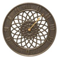 Whitehall Products Spiral Outdoor Thermometer in French Bronze