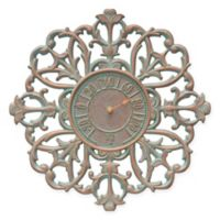 Whitehall Products Filigree Outdoor Thermometer in Copper Verdigris