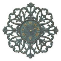 Whitehall Products Filigree Outdoor Thermometer in Bronze Verdigris