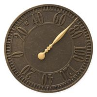 Whitehall Products Geneva Outdoor Thermometer in French Bronze