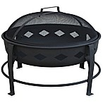 Landmann USA Bromley Diamond 24-Inch Firepit in Black