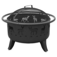 Landmann USA Patio Lights 30-Inch Deer Fire Pit in Black