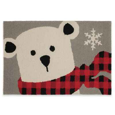 Mohawk Home Winter Polar Bear 30-Inch x 20-Inch Holiday Rug