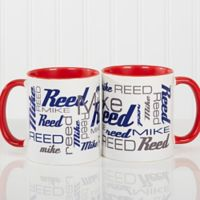 Signature Style for Him 11 oz. Coffee Mug in Red