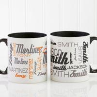 Signature Style for Him 11 oz. Coffee Mug in Black
