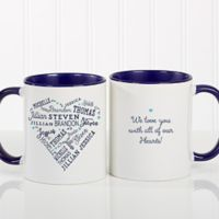 Close to Her Heart 11 oz. Coffee Mug in Blue
