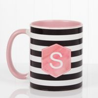 Modern Stripe 11 oz. Coffee Mug in Pink