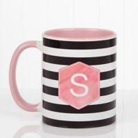 Modern Stripe 11 oz. Coffee Mug in Pink