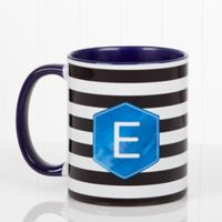 Modern Stripe 11 oz. Coffee Mug in Blue