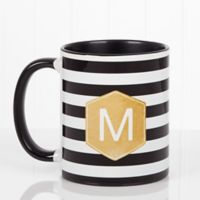Modern Stripe 11 oz. Coffee Mug in Black