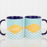Preppy Chic 11 oz. Coffee Mug in Blue