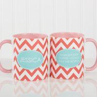 Preppy Chic 11 oz. Coffee Mug in Pink