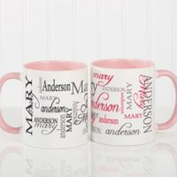Signature Style 11 oz. Coffee Mug in Pink