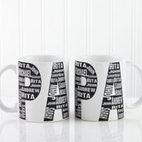 Repeating Name for Him 11 oz. Coffee Mug in White
