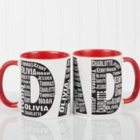 Repeating Name for Him 11 oz. Coffee Mug in Red