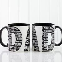 Repeating Name for Him 11 oz. Coffee Mug in Black