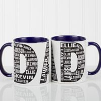 Repeating Name for Him 11 oz. Coffee Mug in Blue