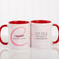 Name Meaning 11 oz. Coffee Mug in Red