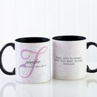 Name Meaning 11 oz. Coffee Mug in Black