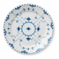 Royal Copenhagen Fluted Full Lace Dinner Plate in Blue
